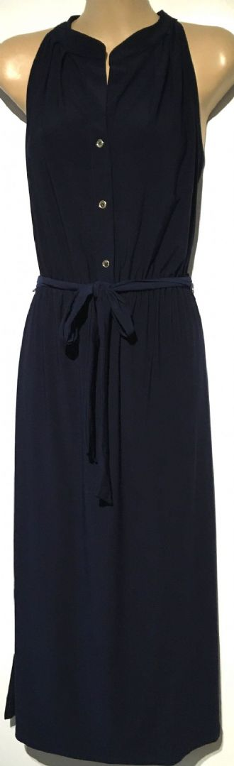 OASIS NAVY SLEEVELESS MIDI BUTTON DRESS BNWT SIZES UK 8-16